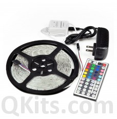 RGB LED Strip and Controller with Power Supply