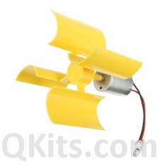 Vertical Micro Wind Turbines Rotating Blades Generator Small DC Motor