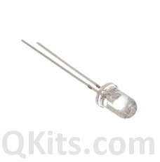 5mm white water clear LED 10 pack
