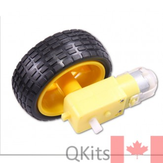 Geared Motor and Wheel Assembly for arduino smart car