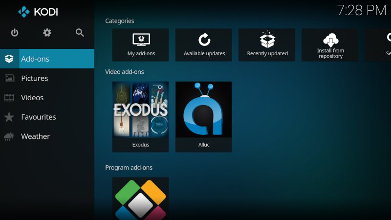 First step setting up your KODI network